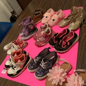 Toddler Shoes Lot of Ten Pairs Girls Size 10 10.5